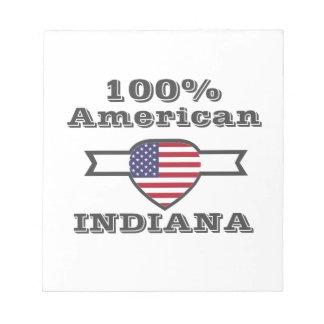 100% American, Indiana Notepad