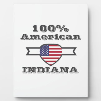 100% American, Indiana Plaque
