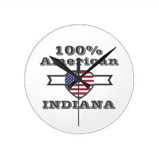 100% American, Indiana Round Clock