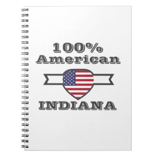 100% American, Indiana Spiral Notebooks