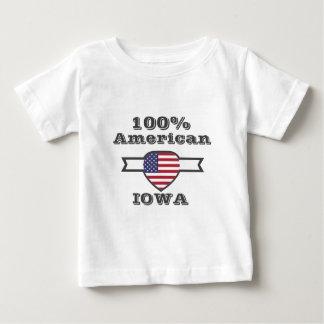 100% American, Iowa Baby T-Shirt