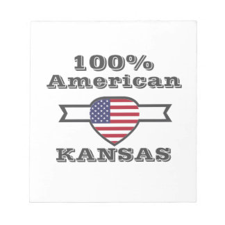 100% American, Kansas Notepad