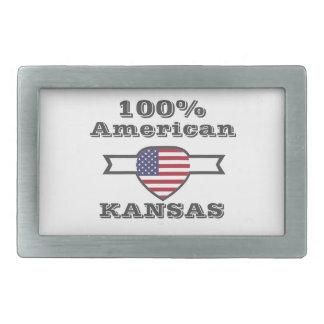 100% American, Kansas Rectangular Belt Buckle