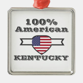 100% American, Kentucky Metal Ornament