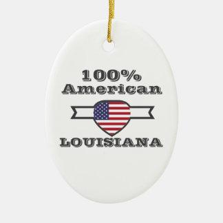 100% American, Louisiana Ceramic Ornament