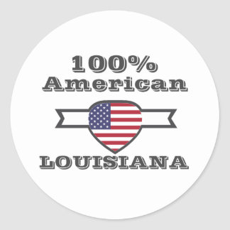 100% American, Louisiana Classic Round Sticker