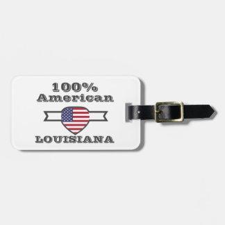 100% American, Louisiana Luggage Tag