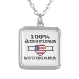 100% American, Louisiana Silver Plated Necklace