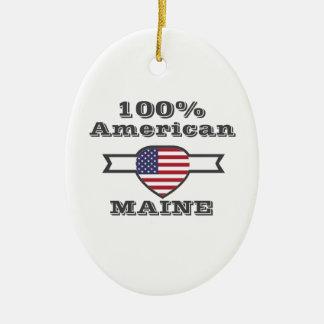 100% American, Maine Ceramic Ornament