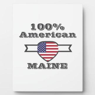 100% American, Maine Plaque