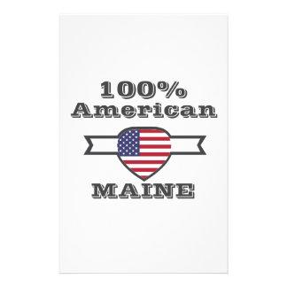 100% American, Maine Stationery