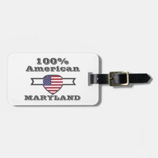 100% American, Maryland Bag Tag
