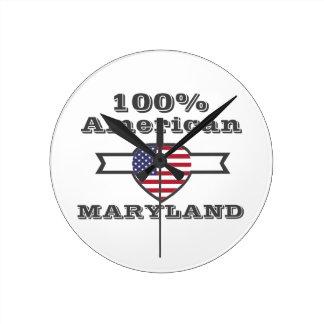 100% American, Maryland Round Clock