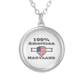 100% American, Maryland Silver Plated Necklace