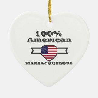 100% American, Massachusetts Ceramic Ornament
