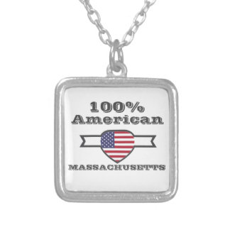 100% American, Massachusetts Silver Plated Necklace