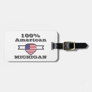 100% American, Michigan Luggage Tag