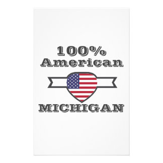 100% American, Michigan Stationery
