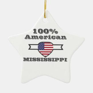 100% American, Mississippi Ceramic Ornament