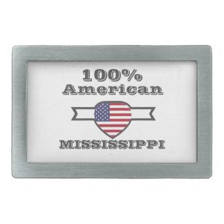 100% American, Mississippi Rectangular Belt Buckle