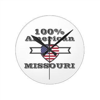 100% American, Missouri Round Clock