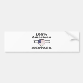 100% American, Montana Bumper Sticker