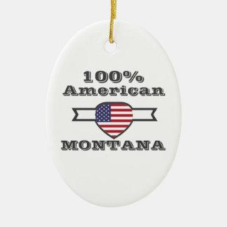 100% American, Montana Ceramic Oval Ornament