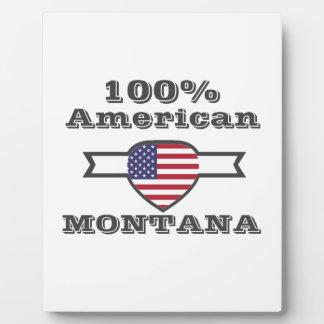 100% American, Montana Plaque