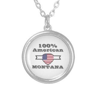 100% American, Montana Silver Plated Necklace