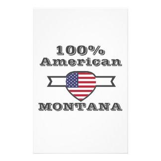 100% American, Montana Stationery