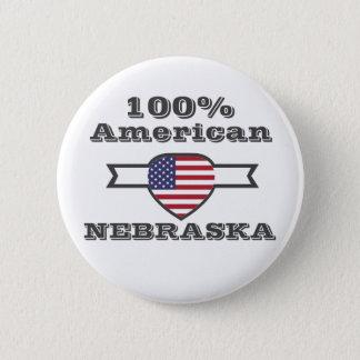 100% American, Nebraska 2 Inch Round Button