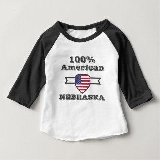 100% American, Nebraska Baby T-Shirt