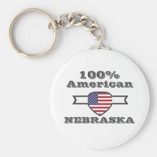 100% American, Nebraska Keychain