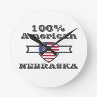 100% American, Nebraska Round Clock