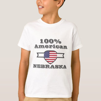 100% American, Nebraska T-Shirt