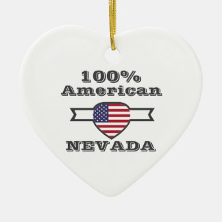 100% American, Nevada Ceramic Ornament