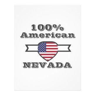 100% American, Nevada Letterhead Design