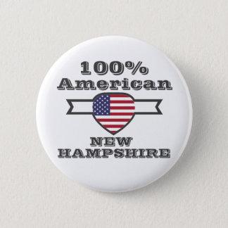 100% American, New Hampshire 2 Inch Round Button