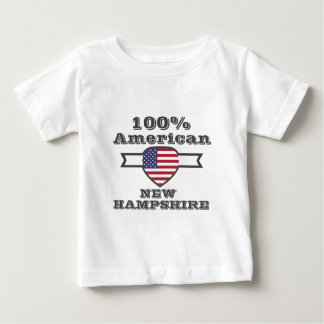 100% American, New Hampshire Baby T-Shirt