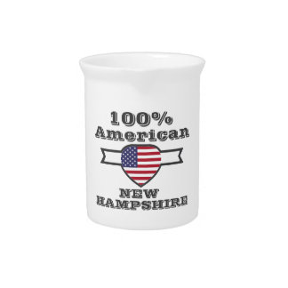 100% American, New Hampshire Beverage Pitcher