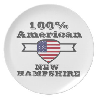 100% American, New Hampshire Dinner Plates
