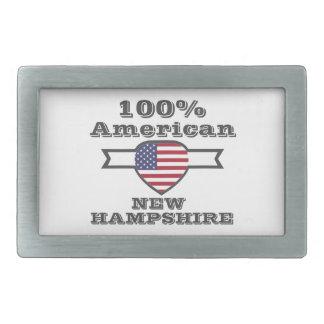 100% American, New Hampshire Rectangular Belt Buckle