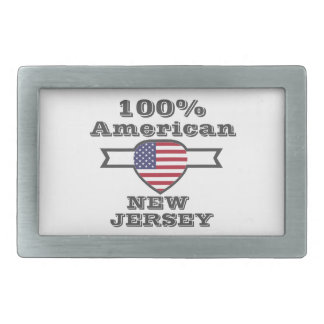 100% American, New Jersey Belt Buckle