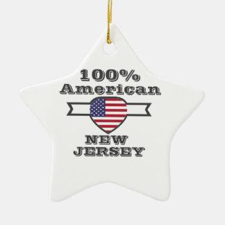 100% American, New Jersey Ceramic Star Ornament