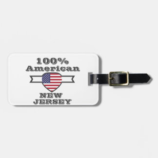 100% American, New Jersey Luggage Tag
