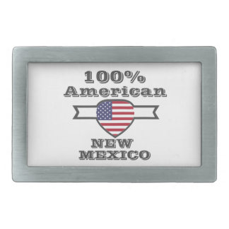 100% American, New Mexico Rectangular Belt Buckles