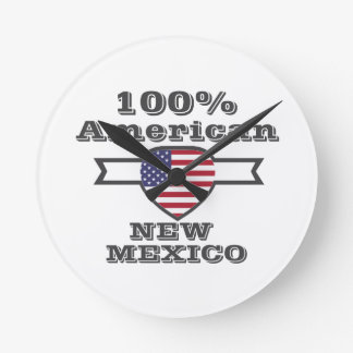 100% American, New Mexico Round Clock