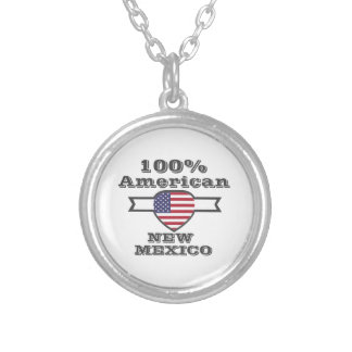 100% American, New Mexico Silver Plated Necklace