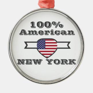 100% American, New York Metal Ornament