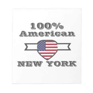 100% American, New York Notepad